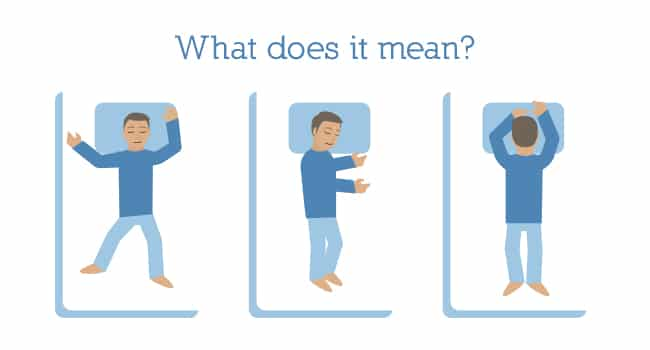 What does your sleep position mean?