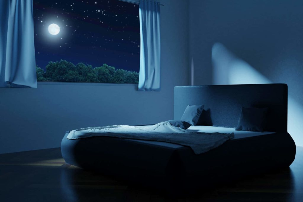 bedroom in the night