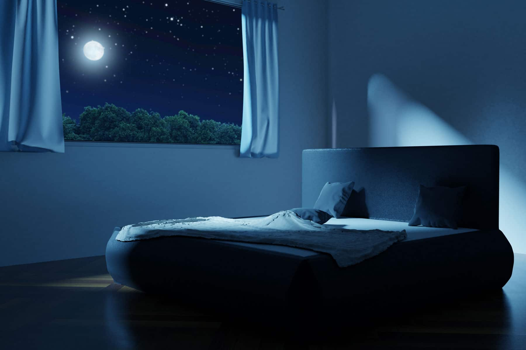 bedroom in the night