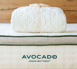 avocado green organic mattress protector