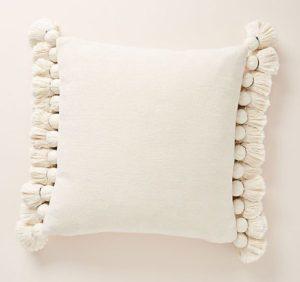 Anthropologie's Tasseled Chenille Nadia Pillow
