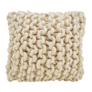Boykins Chunky Cable Knit Wool Throw Pillow