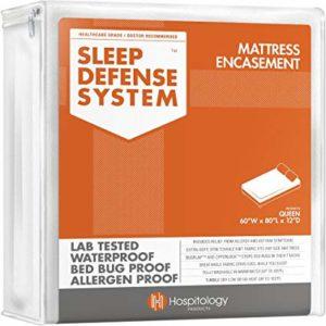 Hospitology Products Sleep Defense System Zippered Mattress Encasement