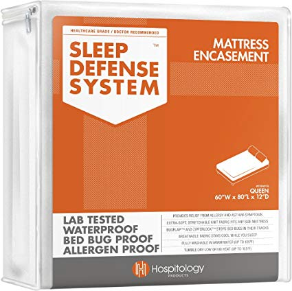Hospitology Products Sleep Defense System Zippered Mattress Encasement
