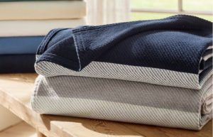 L.L. Bean Maine-Made Cotton Twill Blanket