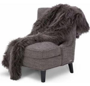 Riviera Faux Fur Throw by Micheal Amini