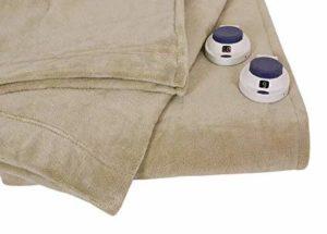 Serta Luxe Plush Fleece Heated Blanket