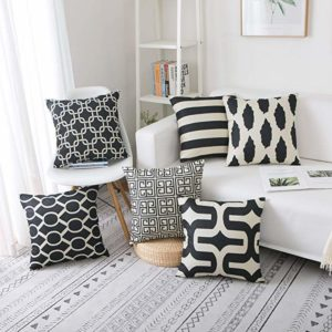 famibay tartan linen throw pillow covers