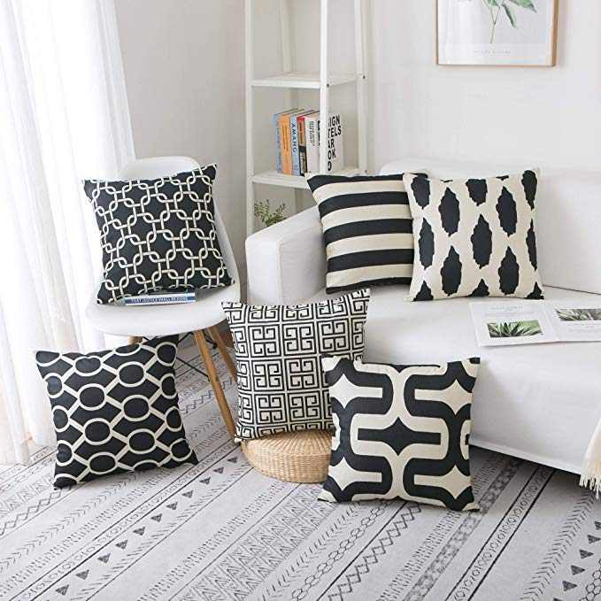 famibay linen throw pillow covers