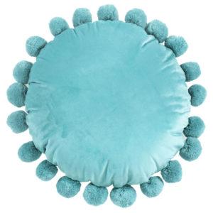 nina round velvet pillow