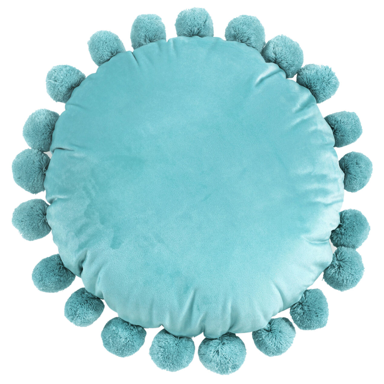 throw pillow with pom poms