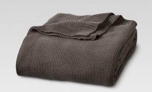 target threshold sweater knit blanket