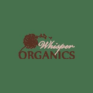 whisper organics logo