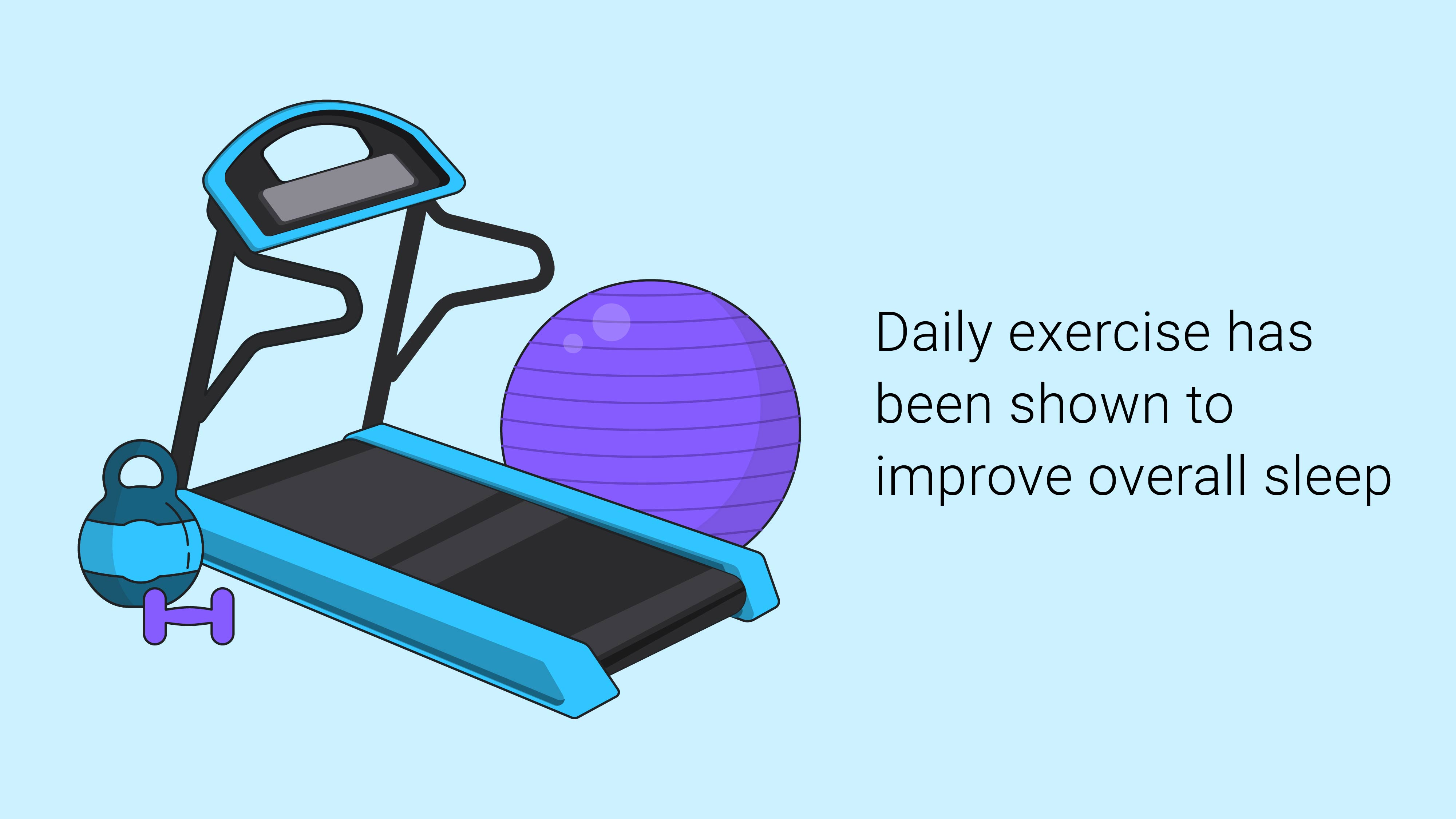 daily exercise and sleep
