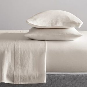 west elm belgian flax linen sheet