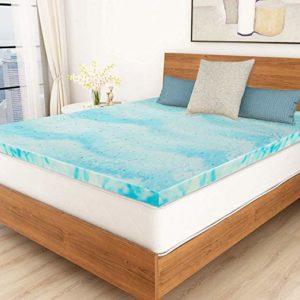 Polar Sleep Swirl Memory Foam Mattress Topper