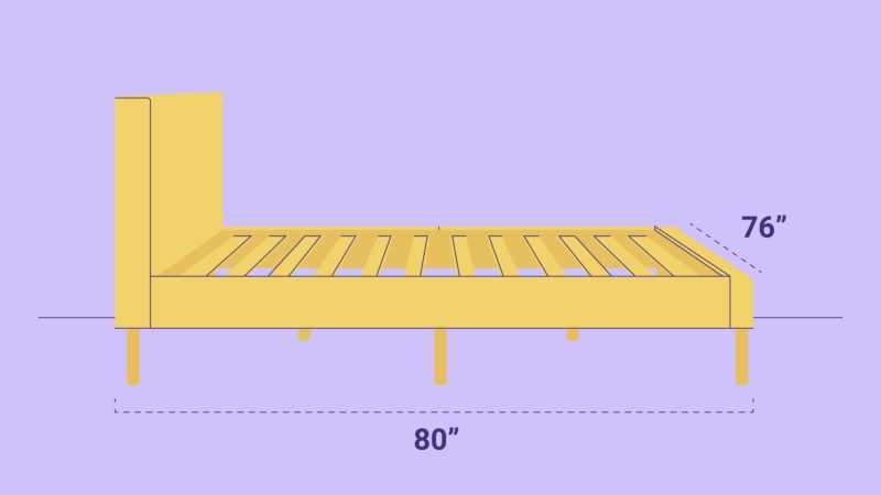 King Size Bed Frame Dimensions Sleep, What Is The Length And Width Of A King Size Bed Frame