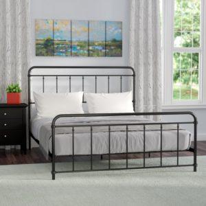 Black Matheney Platform Bed