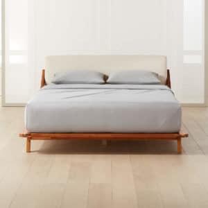 CB2 Drommen Acacia Wood Bed