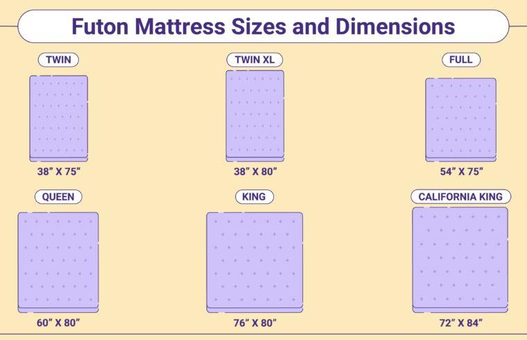 Futon Mattress Sizes and Dimensions