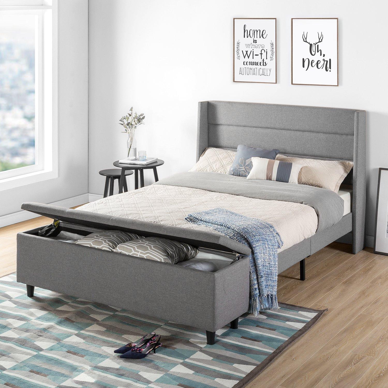 Mellow Home Peekaboo Wingback Storage Platform Bed