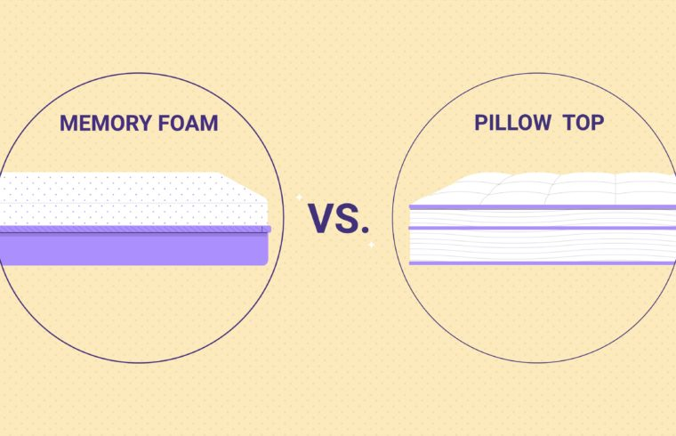 Memory Foam vs. Pillow Top – What's the Difference?
